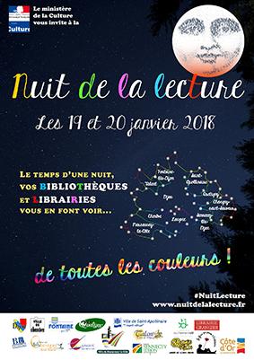 Affiche nuit de la bibliothèque de Fontaine-lès-Dijon